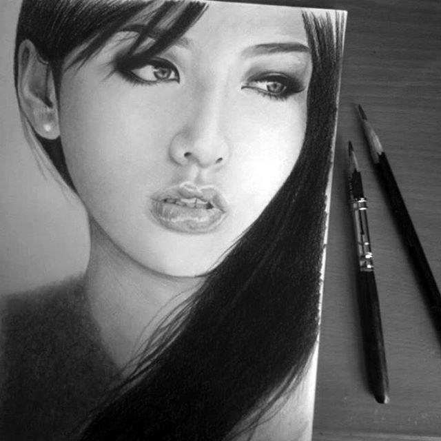 drawing of saori hara