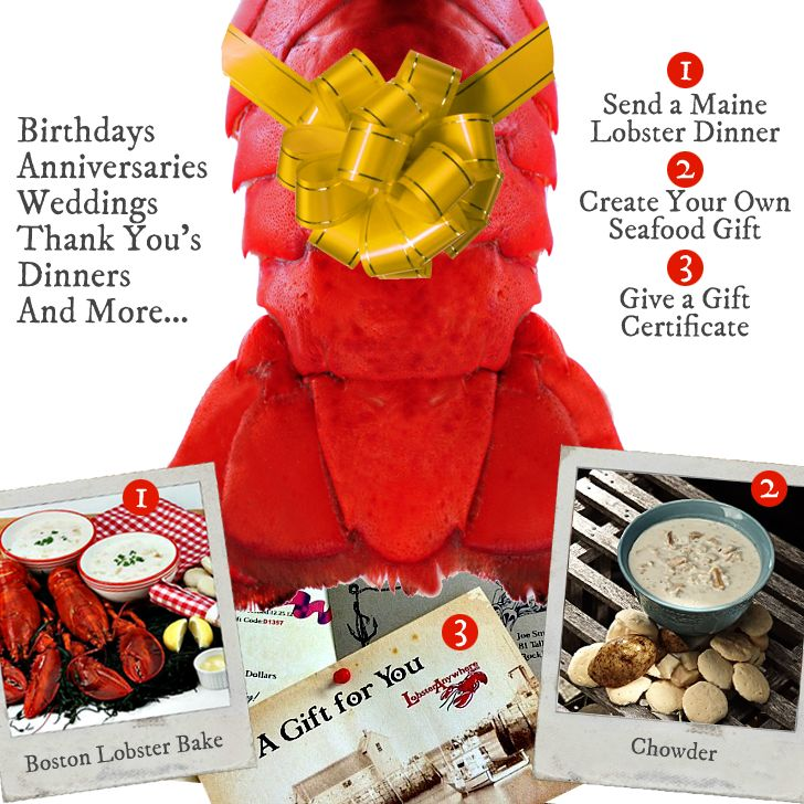 Lobster Gifts. Maine Lobster Delivery. Save on fresh Maine lobsters! Get details at http://shareasale.com/r.cfm?b=227961&u=902724&m=726&urllink=&afftrack= #Fathers Day Gifts # Fathers Day