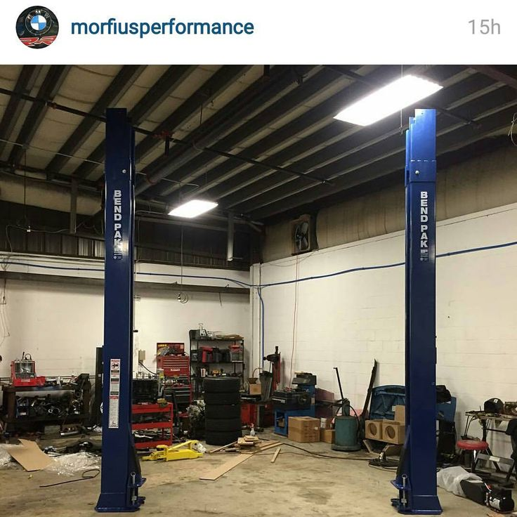 Awesome setup of this extra tall @bendpak lift from @morfiusperformance #bendpak #bendpaklifts #carlifts #autoshop #hotrodshop #carrepair #autotechnician