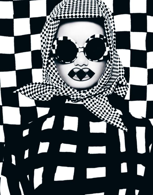 You Can't See Me from DANSK AW12 Photographer: Bo Egestrøm / Creative Director: Uffe Buchard / Fashion Editor: Sandie Elisabeth / Hair & Makeup: Zenia Jæger / Model: Thea Melin Clothes by Marimekko