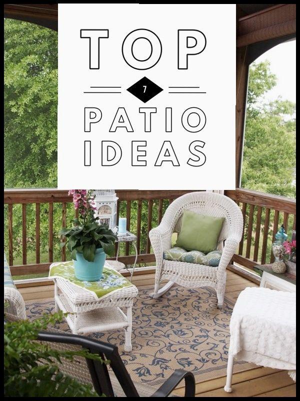 Top 7 Patio Ideas - Backyard Patio and Decks Outdoor Patio Ideas