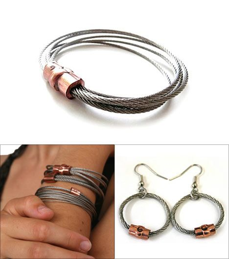 Cable Bracelet & Earrings!  Jewelry Made From Stuff You May Find At Your Local Hardware Store!  Who says Hardware stores are boring!?!?