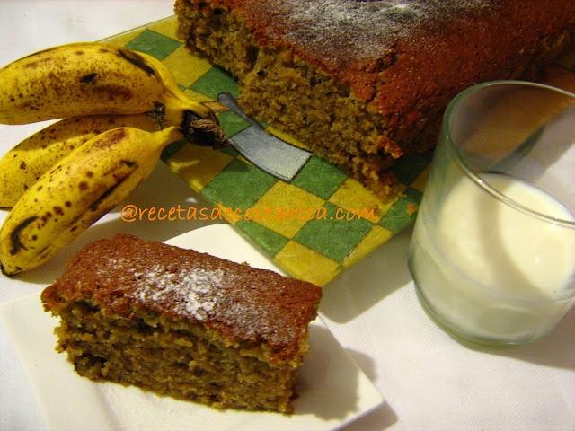 Cocina Costarricense: queque de banano