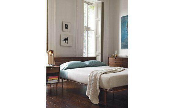 AmericanModern Bed, Walnut