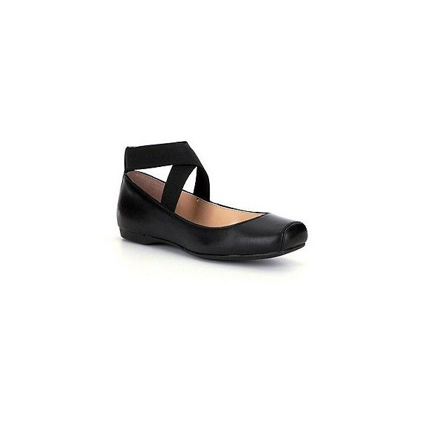 Jessica Simpson Mandalaye Strappy Square-Toe Ballet Flats via Polyvore featuring shoes, flats, t-strap flats, ballerina shoes, square toe ballet flats, square-toe ballet flats and skimmer shoes