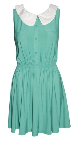 Rita Green Stretchy Shirt Dress $30