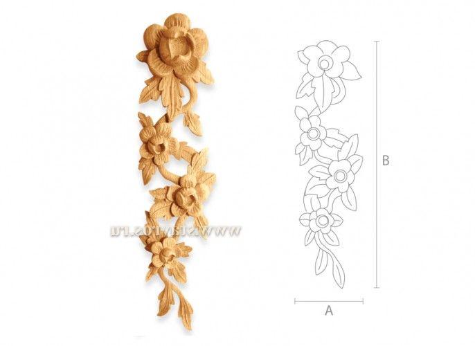 резная деревянная накладка N-118-6