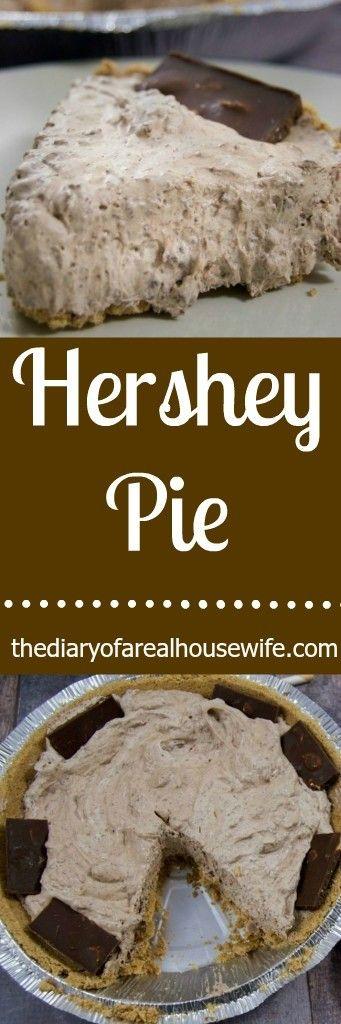 Hershey Pie! Easy no bake dessert recipe!!