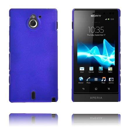 Hard Shell (Blå) Sony Xperia Sola Deksel