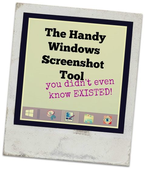With this handy Windows tool you can take and edit screenshots for emailing, posting to a blog, saving to your computer, etc.