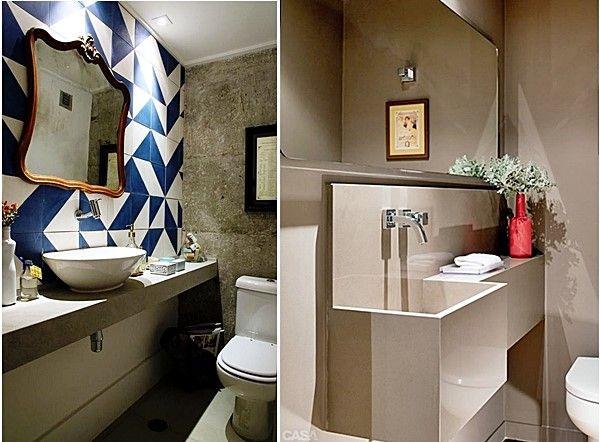 Lavabo pequeno é até natural. Ninguém espera um lavabo do tamanho de um banheiro ou um quarto, não é mesmo? Só que a coisa fica mais complicada quando, além de pequeno, o lavabo (e também o banheiro) é estreito. E como a gente resolve isso?