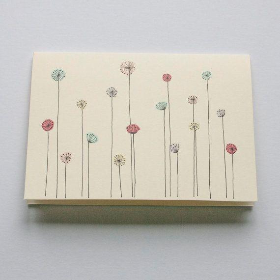 salutation du pavot à fleur de carte carte par ChuckyChucky sur Etsy