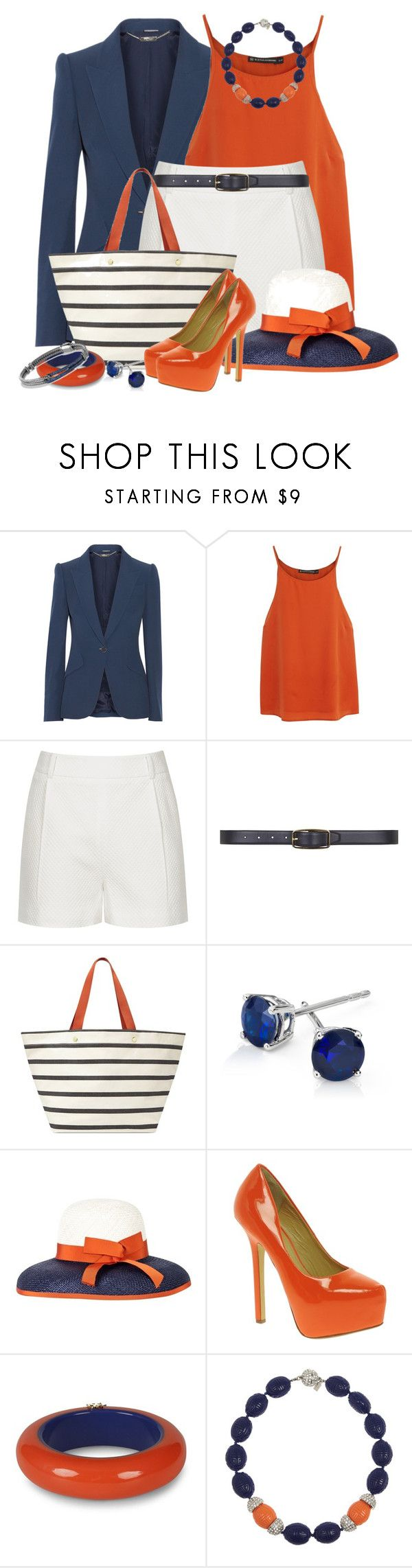 """""""Shorts, Heels & Hat"""" by brendariley-1 ❤ liked on Polyvore featuring Alexander McQueen, ViX, Reiss, Dorothy Perkins, FOSSIL, Blue Nile, Inverni, Chinese Laundry, Dsquared2 and Kenneth Jay Lane"""