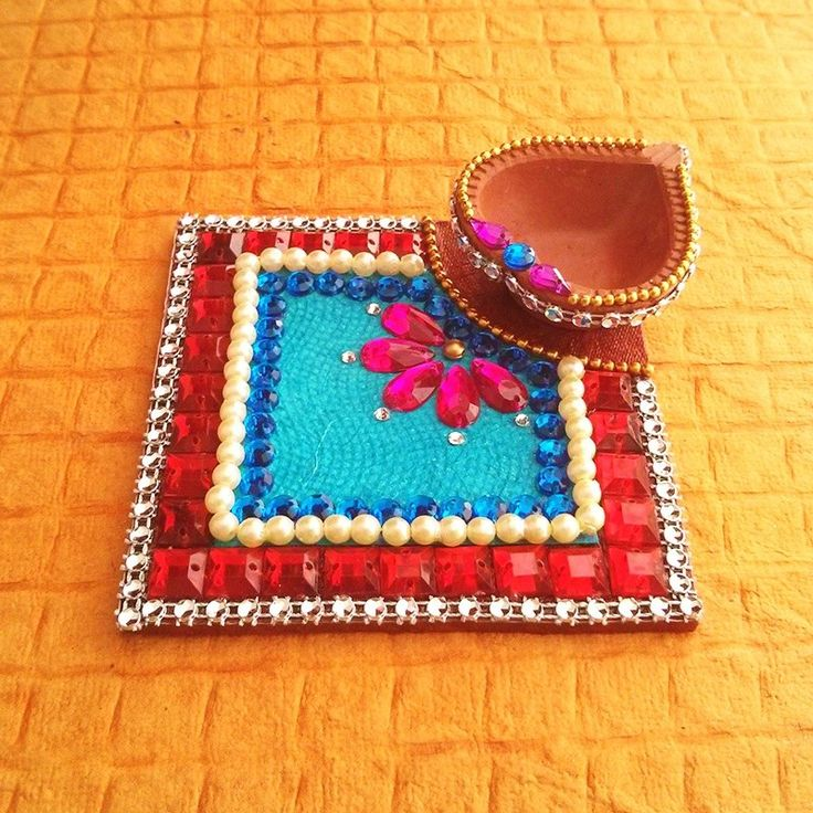 15 best images about chowki decor on pinterest for Art and craft for diwali decoration