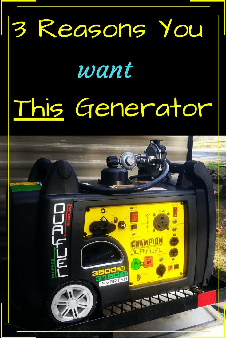 RV Generator - 3 Reasons We Bought the RV Ready Champion 3500 Watt Dual Fuel Inverter Generator - Exploring the Local Life