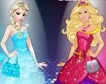Em Elsa vs Barbie, A rainha do Gelo, Elsa e a fashionista Barbie estão em uma super disputa para saber que é a mais estilosa e fashion de todas. E nesta disputa é você que vai escolher o look delas. Use todas as suas habilidades de moda e as deixe lindas e maravilhosas. Divirta-se com Elsa e Barbie!