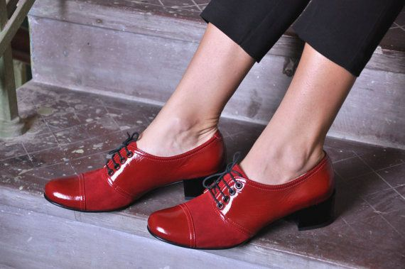 Moor - Oxford Pumps, Womens Oxfords, Casual Shoes, Party Shoes, Red shoes, Heeled Oxfords, Chic Shoes, FREE customization!!!