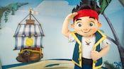 Disney Junior star Jake, the boy pirate, salutes at Animation Courtyard