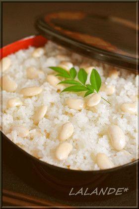白おふかし(白いんげん豆のおこわ)