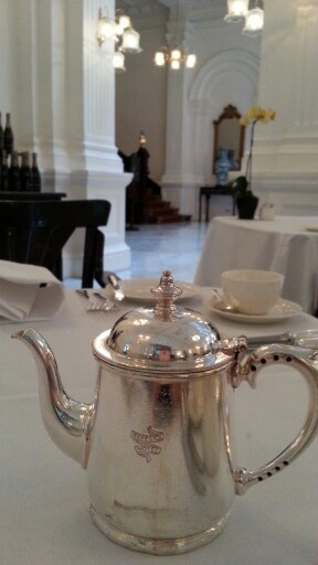 High tea at Tiffin Room, Raffles Hotel, Singapore
