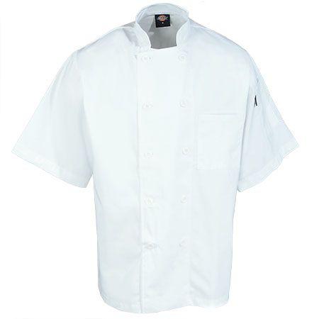 Dickies Chef Men's White DC124 Donatello Performance Short Sleeve Chef Coat