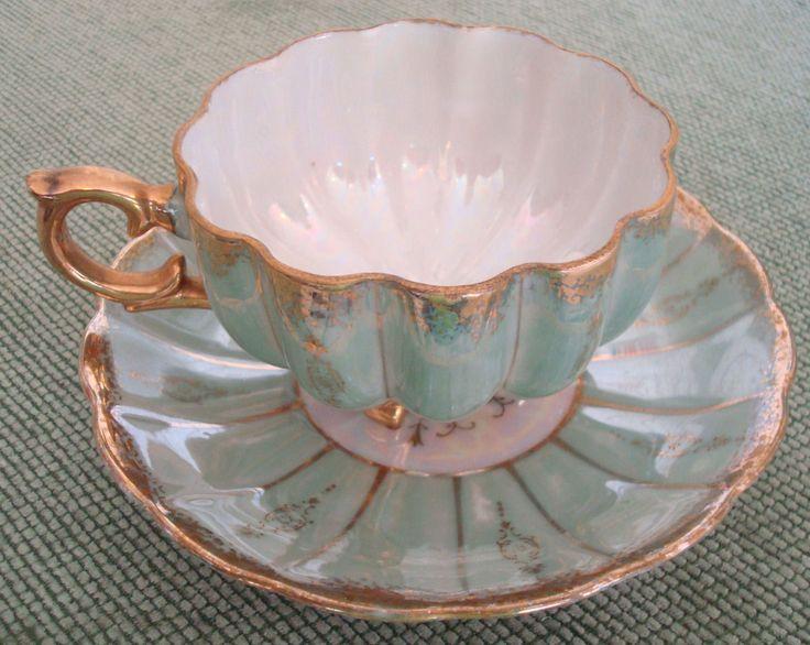 Vintage Royal Sealy Tea Cup and Saucer Set in Antiques, Decorative Arts, Ceramics & Porcelain, Cups & Saucers | eBay