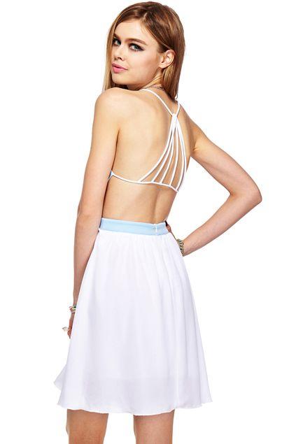 ROMWE   ROMWE Dual-tone Strap Hollow Sleeveless Dress, The Latest Street Fashion #RomwebeyondtheColor # Romwe beyond the Color