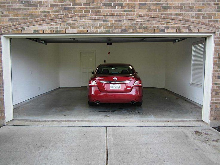 Garage size home design for Standard garage door size