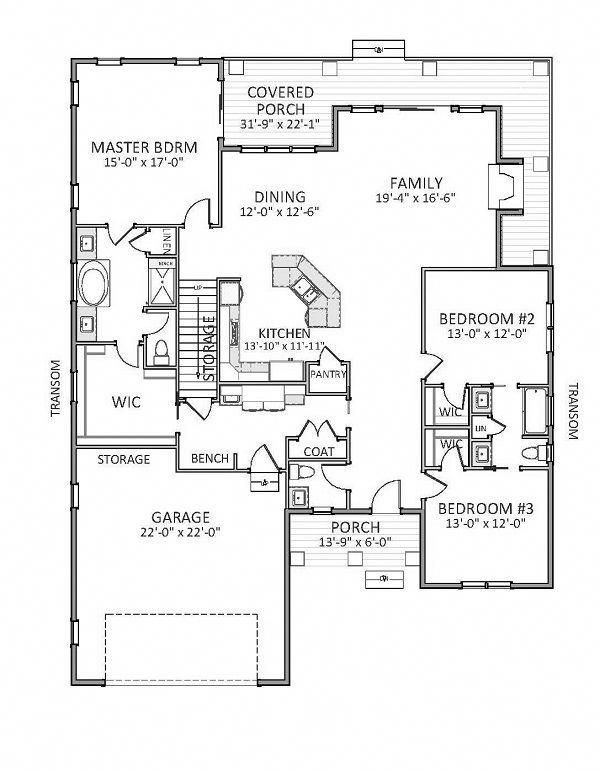 Three Bedroom Ranch House Plan Floordecorations Barndominium