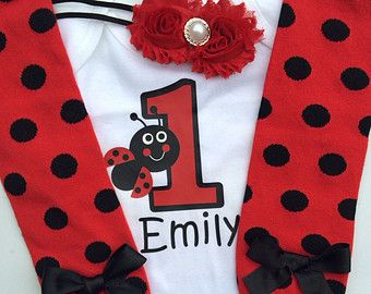 baby girl 1st birthday Ladybug  outfit - 1st birthday photo outfit - 1st birthday outfit - Lady bug birthday party - smash cake outfit