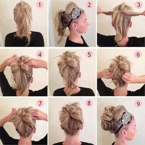 94 best hairstyle images on pinterest tuto coiffure coiffure easy step by step updo diy hair updo solutioingenieria Image collections