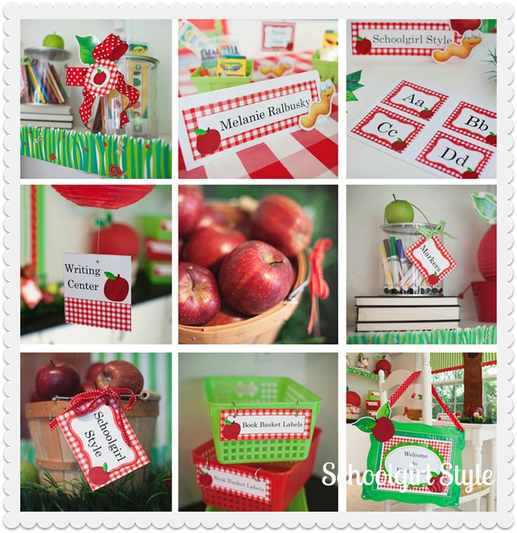 A VERY thorough and fun Apple themed classroom!