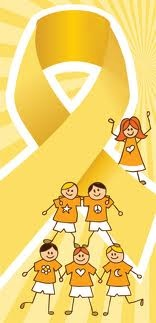 Children with cancer ribbon