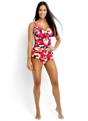 Kabuki Bloom DD Cup Halter Singlet and Ruched Side Pant