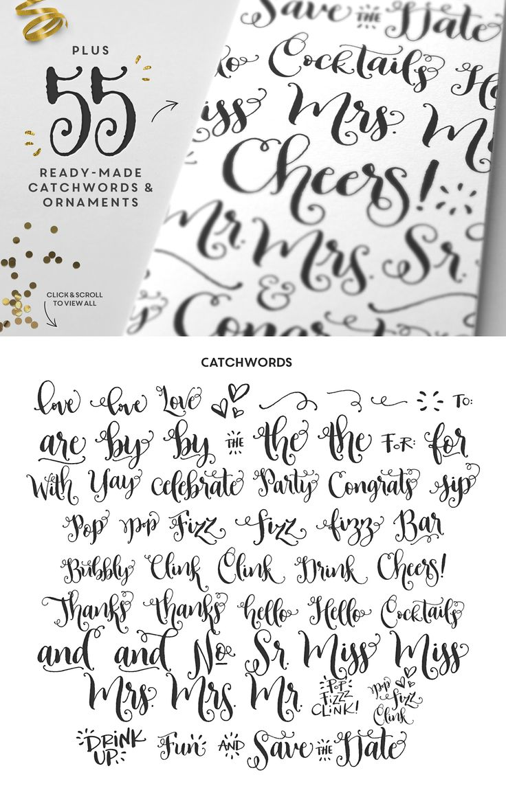 Best wedding fonts images on pinterest typography
