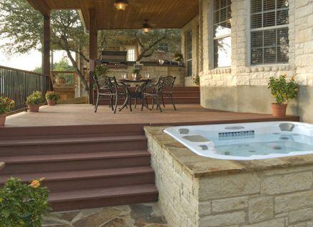 Hot tub deck designs
