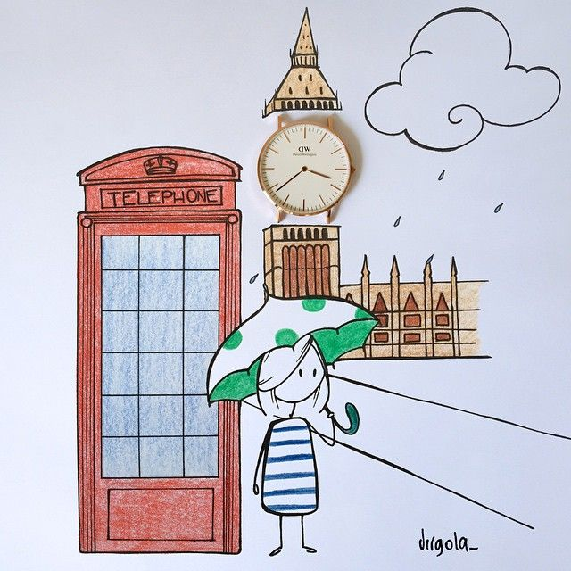 "Virgola by Virginia Di Giorgio SnapWidget | Do you like this unexpected Big Ben? My illustration for @danielwellingtonwatches ✨ Get also 15% off at www.danielwellington.com with the discount code ""Virgola_"" until 15.4 #danielwellington #virginiasdraws"