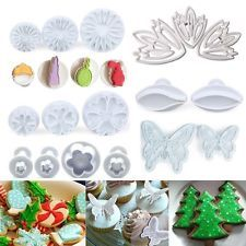 40 Styles Fondant Cake Pastry Cookies Plunger Cutter Mold Decorating Mould