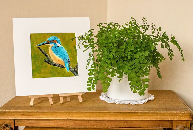 Kingfisher Print from an Original Painting, Wild Bird Art Print, Original Painting Print, Kingfisher, Acrylic Painting Print, Wild Bird by SBsPrintables on Etsy
