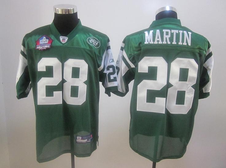 NFL New York Jets MARTIN 28 Men's Retro Jerseys Green