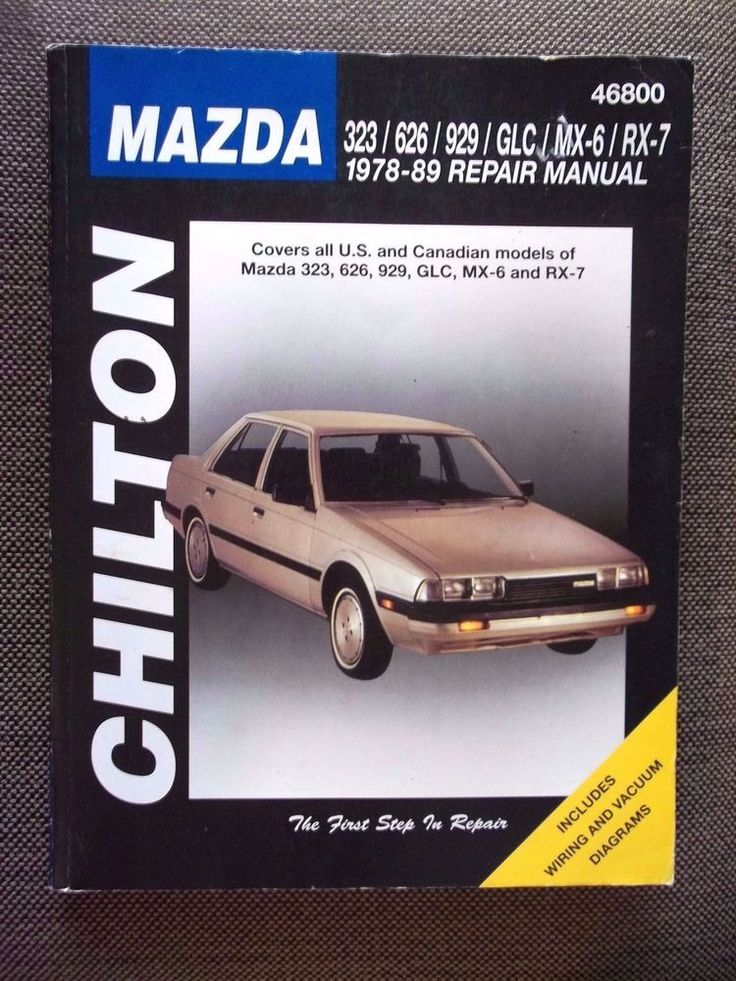 Chilton 78-89 Mazda 46800 Repair Manual  323 626 929 GLC MX-6 RX-7 Diagrams