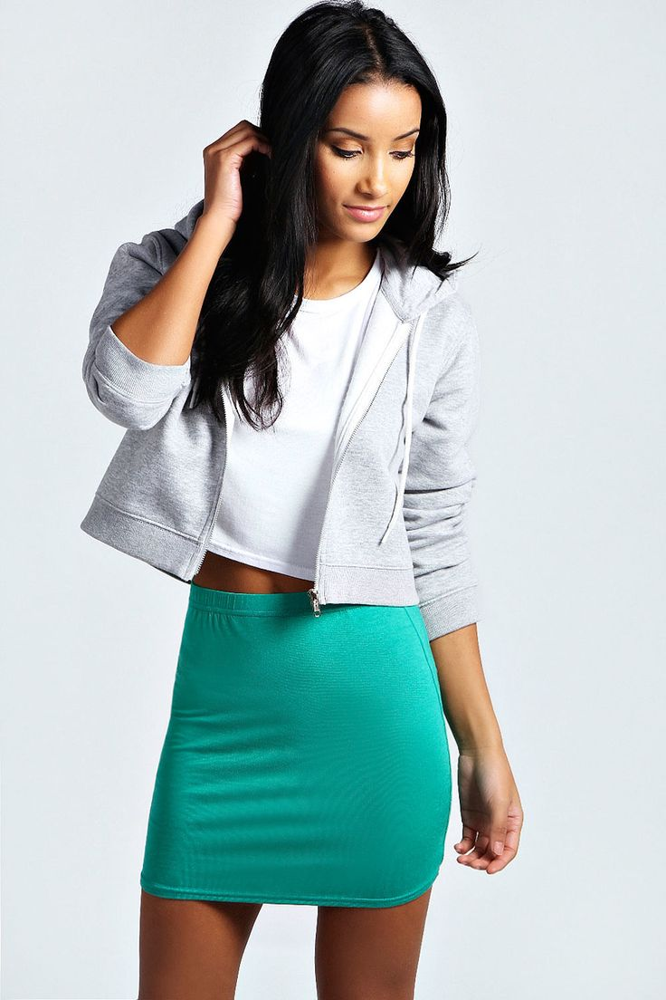 Womens sea green skirt from boohoo.com - £4 at ClothingByColour.com