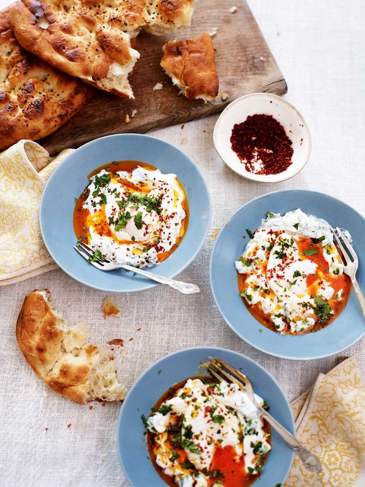 Serve this creamy Turkish dish with some toasted pitta for an impressive breakfast or brunch.