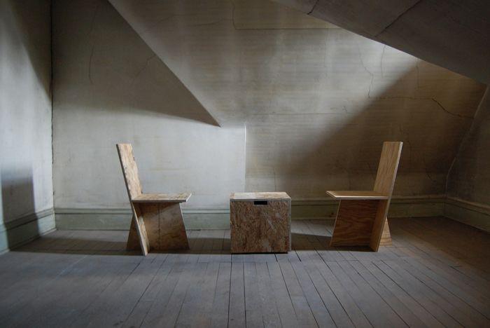 OSB/Plywood Chairs by ROLU Studio
