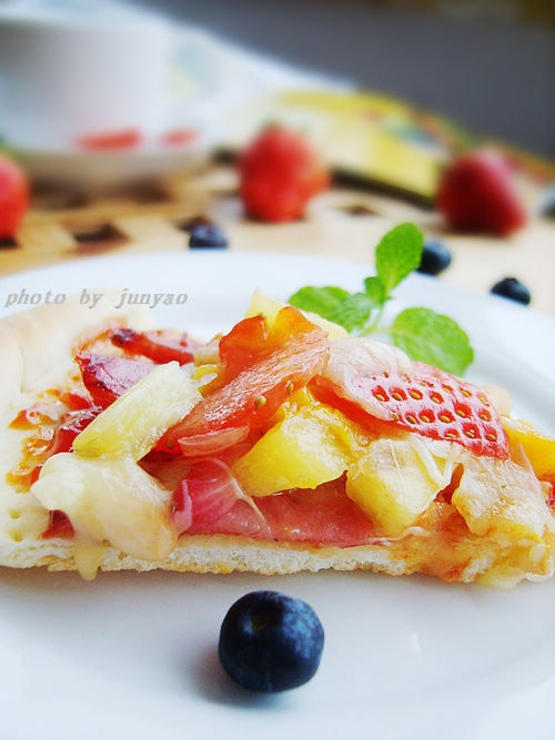 The fresh fruits Pizza practices