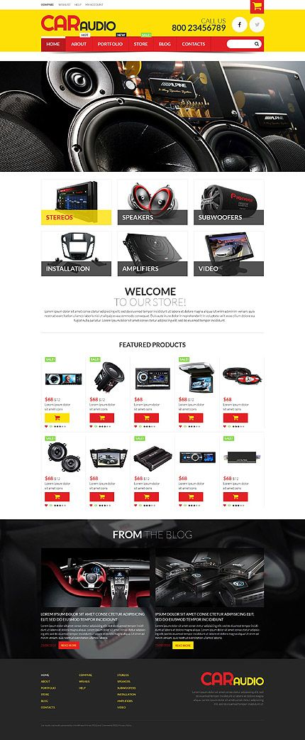 Car audio shop #WooCommerce #template. #themes #business #responsive