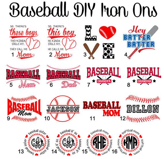 DIY Baseball and Softball Iron Ons Baseball Mom by VinylDezignz