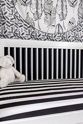 Danha Premium Fitted Cotton Crib Sheet With Black White Stripe Print – Standard Crib Mattress Size – Toddler, Kids Bedding – Modern Nursery Décor – Ideal Baby Shower Gift For Infant Boys Or Girls . http://aluxurybed.com/product/danha-premium-fitted-cotton-crib-sheet-with-black-white-stripe-print-standard-crib-mattress-size-toddler-kids-bedding-modern-nursery-decor-ideal-baby-shower-gift-for-infant-boys-or-girls-2/