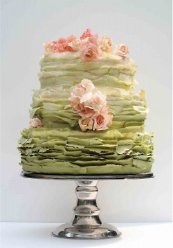 beautiful and unique- love this wedding cake!