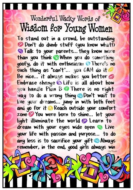 Wisdom for Young Women | Inspiring Words | Pinterest